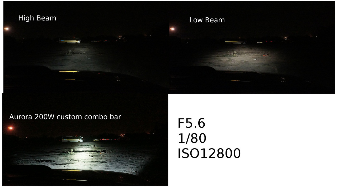 Aurora 200w led vs osram nightbreaker 90 a scientific comparison most light bar reviews show light bars as some kind of nuclear warfare weapon i decided to review the aurora 200w bar keeping camera exposure locked aloadofball Image collections
