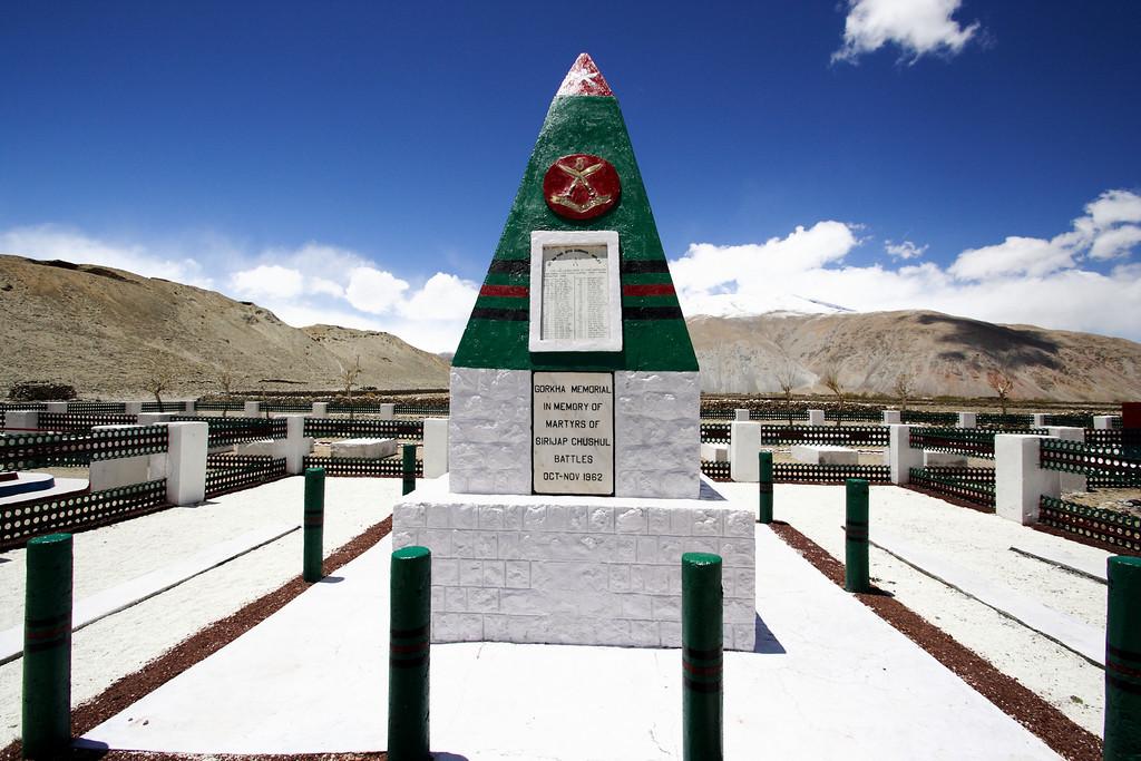 Taken at Latitude/Longitude:33.595143/78.654660. 2.12 km South-East Chushul Kashmir India  (Map link)