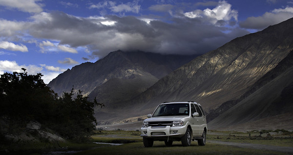 Nubra valley, near hunder dunes